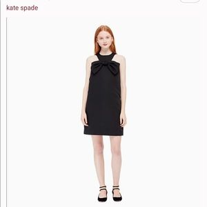 Kate Spade Black Shift Dress with Bow Front